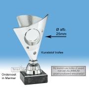 TC325.02SET - Zilverkleurige trofee incl. afbeelding op open kelk (± 15 cm)