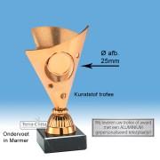 TC325.03SET - Roodbrons gekleurige trofee incl. afbeelding op open kelk (± 15 cm)