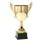 TC040.61ML Goudkleurige Award met cup en oren (in 6 hoogten van ± 23 t/m 46 cm - Prijs vanaf € 18,95 t/m € 54,95)