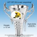 TC160CP Kunststof Trofee met oren en gratis afbeelding naar keuze (± 12cm hoog)