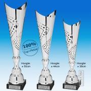 TC300X-Z Zilverkleurige Award met METALEN schulpen met uitsparingen (38-50cm hoog)
