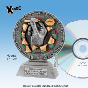 "TC1121FG - Resin polyester Standaard DARTS ""Xplode"" (16cm hoog)"