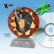 "╠ OP=OP ╣ - TC1132FG - Resin Standaard BASKETBAL ""Xplode"" (18cm hoog) - DE ALLERLAATSTE !!"