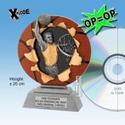 "╠ OP=OP ╣ -TC1133FG - Resin Standaard BASKETBAL ""Xplode"" (20cm hoog) - DE ALLERLAATSTE !!"