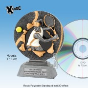 "TC1155FG - Resin Standaard TENNIS DAME ""Xplode"" (16cm hoog)"