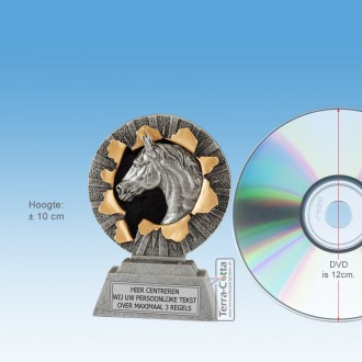 """TC1307FG-Resin Standaard """"Xplode"""" PAARDENSPORT (±  10cm hoog) - MET VOLUMEKORTING!"""