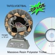 """╠ OP=OP ╣ - TC1341FG - Resin Standaard TAFELVOETBAL """"Xplode"""" (16cm hoog) - NOG 3 stuks!"""