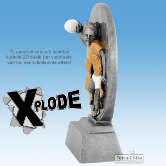 """TC1304FG - Resin Standaard """"Xplode"""" VOETBALLER (hoogte ± 10cm) MET VOLUMEKORTING!"""