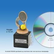 TC008FXM - Marmer blok zwart met kunststof resin TENNIS (± 12cm)