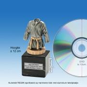 TC009FXM - Marmer blok zwart met kunststof resin TENUE (Judo/Karate) ± 12cm