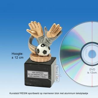 TC013FXM - Marmer blok zwart met kunststof resin KEEPER (± 12cm)