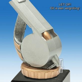 TC014FXM - Marmer blok zwart met kunststof resin FLUIT (± 12cm)