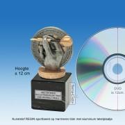 TC017FXM - Marmer blok zwart met kunststof resin DARTS (± 12cm)