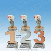 TC110FX-018 Resin standaard nummer met KAARTEN - MET SERIEKORTING! (±20cm)