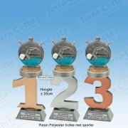 TC110FX-023 Resin standaard nummer met ZWEMMEN - MET SERIEKORTING! (±20cm)