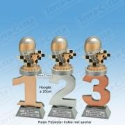 TC110FX-026 Resin standaard nummer met HELM - MET SERIEKORTING! (±20cm)