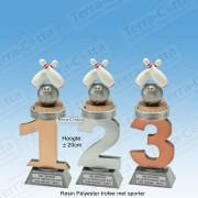 TC110FX-040 Resin standaard nummer met BOWLEN - MET SERIEKORTING! (±20cm)