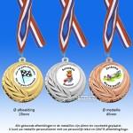 TC110D Medailles van Hoogglans Metaal Ø 45mm. met gratis halslint  - gewicht ±25 gram