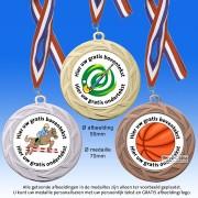 TC113D Medailles van Hoogglans Metaal Ø 60mm. met gratis breed halslint - gewicht  ±46 gram