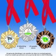TC5001DZ Medailles van Hoogglans Metaal Ø 50mm. met gratis halslint - gewicht ±14 gram