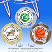 TC7001DZ - Medailles van Hoogglans Metaal Ø 70mm. met gratis halslint - gewicht  ±36 gram