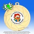 |*MEGASALE*| TC82ME Medailles - Hoogglans Metaal Ø 50mm. met gratis breed halslint - gewicht ±31 gram