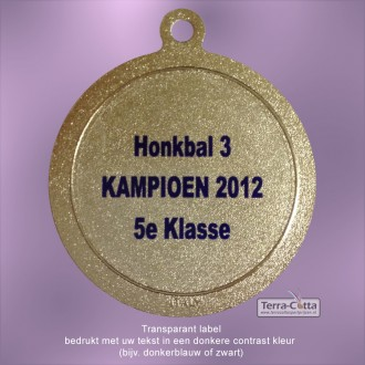 AA0032L - Transparant label/sticker met uw tekst - doorsnede 32mm