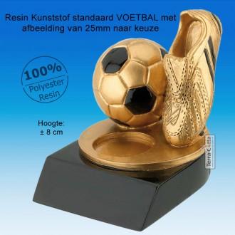 TC240FG-G - Goudkleurige voetbaltrofee met zwarte accenten (± 8cm hoog) MET VOLUMEKORTING!