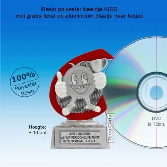 TC254FG - Resin standaard KIDS met rood accent (± 10 cm) MET VOLUMEKORTING!