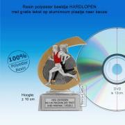 TC257FG  - Resin standaard HARDLOPEN met gouden accent (± 10 cm) MET VOLUMEKORTING!
