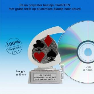 TC264FG  - Resin standaard KAARTEN met wit accent  (± 10 cm) MET VOLUMEKORTING!