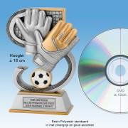 TC665FG - Resin Standaard KEEPER Handschoenen (± 16cm hoog)