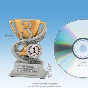 TCR903FG - Resin Standaard NUMMER 3 - MET VOLUMEKORTING! (± 12cm)