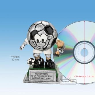 """TCR751FG - Resin beeld VOETBAL """"KIDS"""" (± 12cm hoog)"""