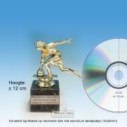 ╠ OP=OP ╣ - TC516 Damesbowlen Zilver met goudkleurige accenten ± 12cm - NOG MAAR 4 STUKS!