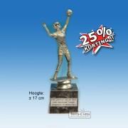 ╠ OP=OP ╣ - TC516 Damesvolleybal (± 17cm) - NOG 25 STUKS!