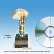 |*OP=OP*| TC516 Kaarten Zilver met goudaccenten ± 15cm - NOG 5 STUKS!